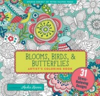 Kolorowanka artystyczna. Kwiaty, ptaki i motyle - okładka książki