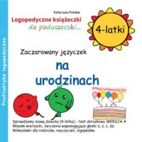 Zaczarowany języczek na urodzinach (4-latki) - okładka książki