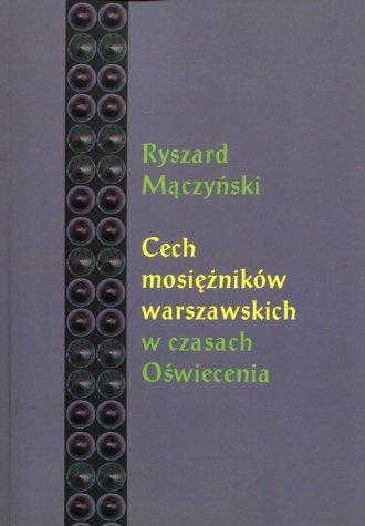 Cech mosiężników warszawskich w - okładka książki