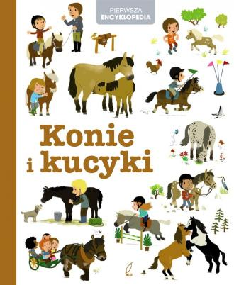Encyklopedia dla dzieci. Konie - okładka książki