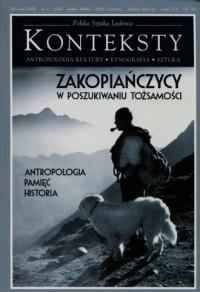 Konteksty 1/2013. Zakopiańczycy w poszukiwaniu tożsamości - okładka książki