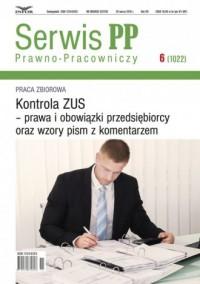 Serwis Prawno-Pracowniczy 6 (1022). - okładka książki