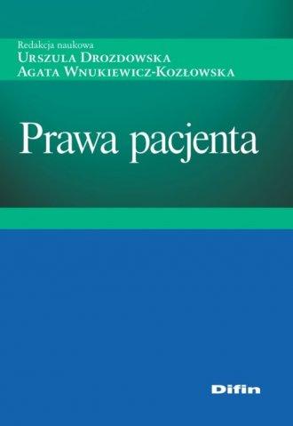 Prawa pacjenta - okładka książki