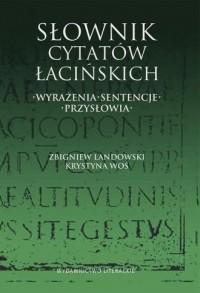 Słownik cytatów łacińskich. Wyrażenia, - okładka książki