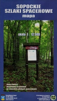 Sopockie szlaki spacerowe mapa (skala 1:12 500) - okładka książki