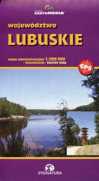 Województwo lubuskie mapa administracyjno-turystyczna - okładka książki