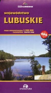 Województwo lubuskie mapa administracyjno-turystyczna (skala 1:200 000) - okładka książki