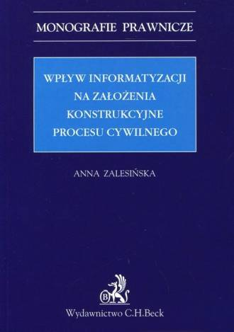 Wpływ informatyzacji na założenia - okładka książki