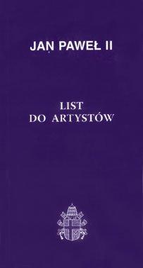 List do artystów - okładka książki