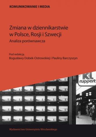 Zmiana w dziennikarstwie w Polsce, - okładka książki