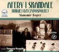 Afery i skandale Drugiej Rzeczypospolitej - pudełko audiobooku