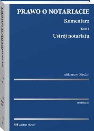 Prawo o notariacie. Komentarz. - okładka książki