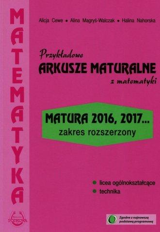 Przykładowe arkusze maturalne z - okładka podręcznika