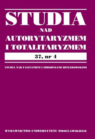 Studia nad Autorytaryzmem i Totalitaryzmem. - okładka książki