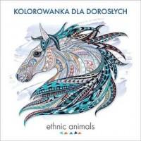 Ethnic animals. Kolorowanka dla dorosłych - okładka książki