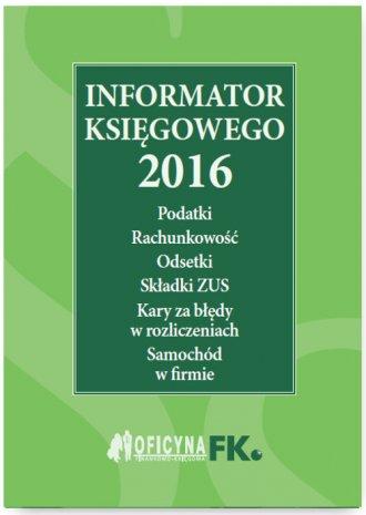 Informator księgowego 2016 - okładka książki