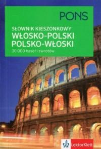 Kieszonkowy słownik włosko-polski, - okładka książki