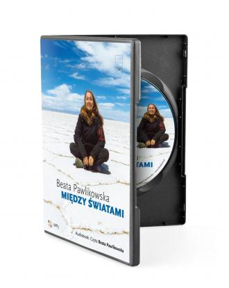 Między światami - pudełko audiobooku