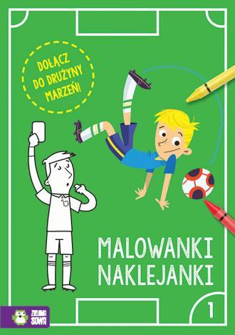 Piłkarskie malowanki naklejanki - okładka książki