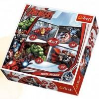 Avengers (puzzle 4 w 1) - zdjęcie zabawki, gry