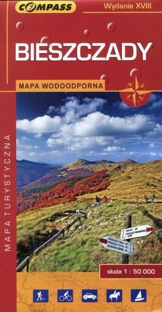 Bieszczady. Wodoodporna mapa turystyczna - okładka książki
