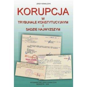 Korupcja w trybunale konstytucyjnym - okładka książki