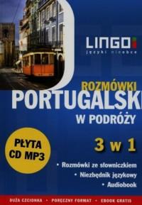 Portugalski w podróży. Rozmówki 3 w 1 ( CD) - okładka podręcznika