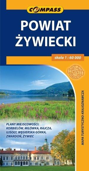 Powiat Żywiecki. Mapa turystyczno-krajoznawcza - okładka książki