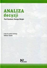 fb33bb4457 Analiza decyzji - okładka książki