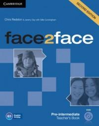 face2face. Pre-intermediate Teachers Book with DVD - okładka podręcznika