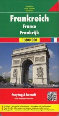 Francja mapa (skala 1:800 000) - okładka książki