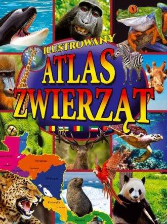 Ilustrowany atlas zwierząt - okładka książki