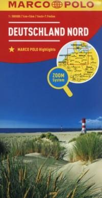 Niemcy Północ mapa drogowa (skala 1:500 000) - okładka książki