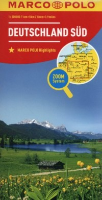 Niemcy Południe mapa drogowa (skala 1:800 000) - okładka książki
