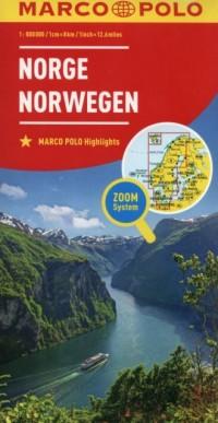 Norwegia mapa drogowa (skala 1:800 000) - okładka książki
