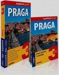 Praga 3w1. Przewodnik + atlas mapa - okładka książki