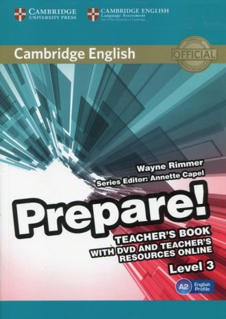 Prepare! 3 Teachers Book with DVD - okładka podręcznika