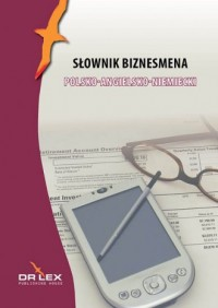 Słownik biznesmena polsko-angielsko-niemiecki - okładka książki