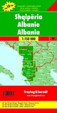 Albania mapa (skala 1:150 000) - okładka książki