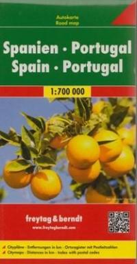 Hiszpania, Portugalia mapa (skala 1:700 000) - okładka książki