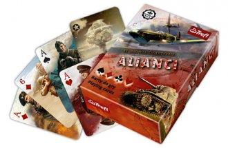 II Wojna Światowa. Alianci. Karty - zdjęcie zabawki, gry