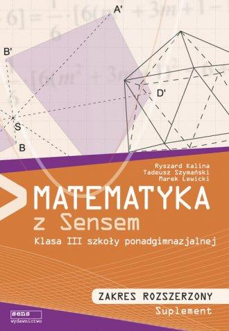 Matematyka z sensem 3. Szkoła ponadgimnazjalna. - okładka podręcznika