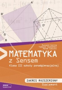 Matematyka z sensem 3. Szkoła ponadgimnazjalna. Podręcznik. Zakres rozszerzony - okładka podręcznika
