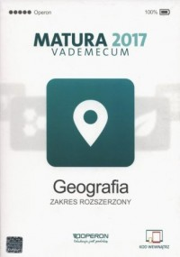 Matura 2017. Vademecum. Geografia. Zakres rozszerzony - okładka podręcznika