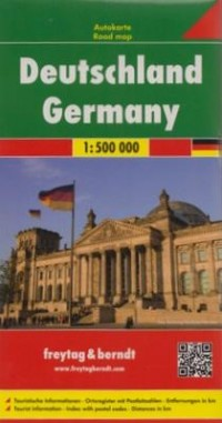 Niemcy mapa (skala 1:500 000) - okładka książki