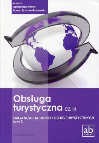 Obsługa turystyczna cz. 3. Organizacja - okładka podręcznika