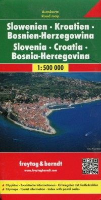 Słowenia, Chorwacja, Bośnia i Hercegowina mapa (skala 1:500 000) - okładka książki