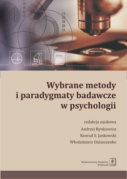 Wybrane metody i paradygmaty badawcze - okładka książki
