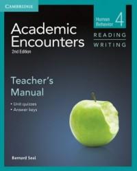 Academic Encounters 4. Teachers Manual Reading Writing - okładka podręcznika