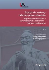 Azjatyckie systemy ochrony praw - okładka książki